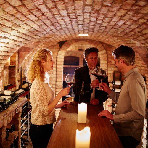 Weinverkostung im Hotel Auriga